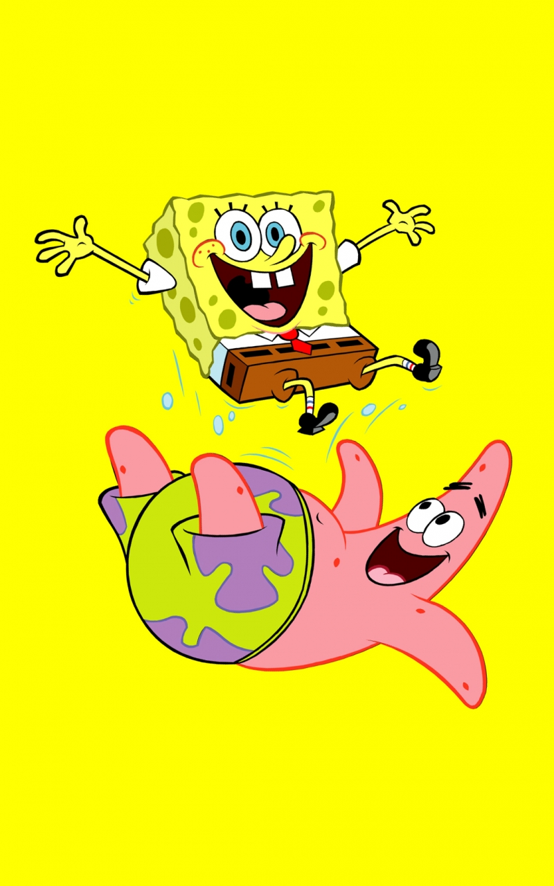 Get Funny SpongeBob And Patrick Best htc one wallpapers and easy 800x1280