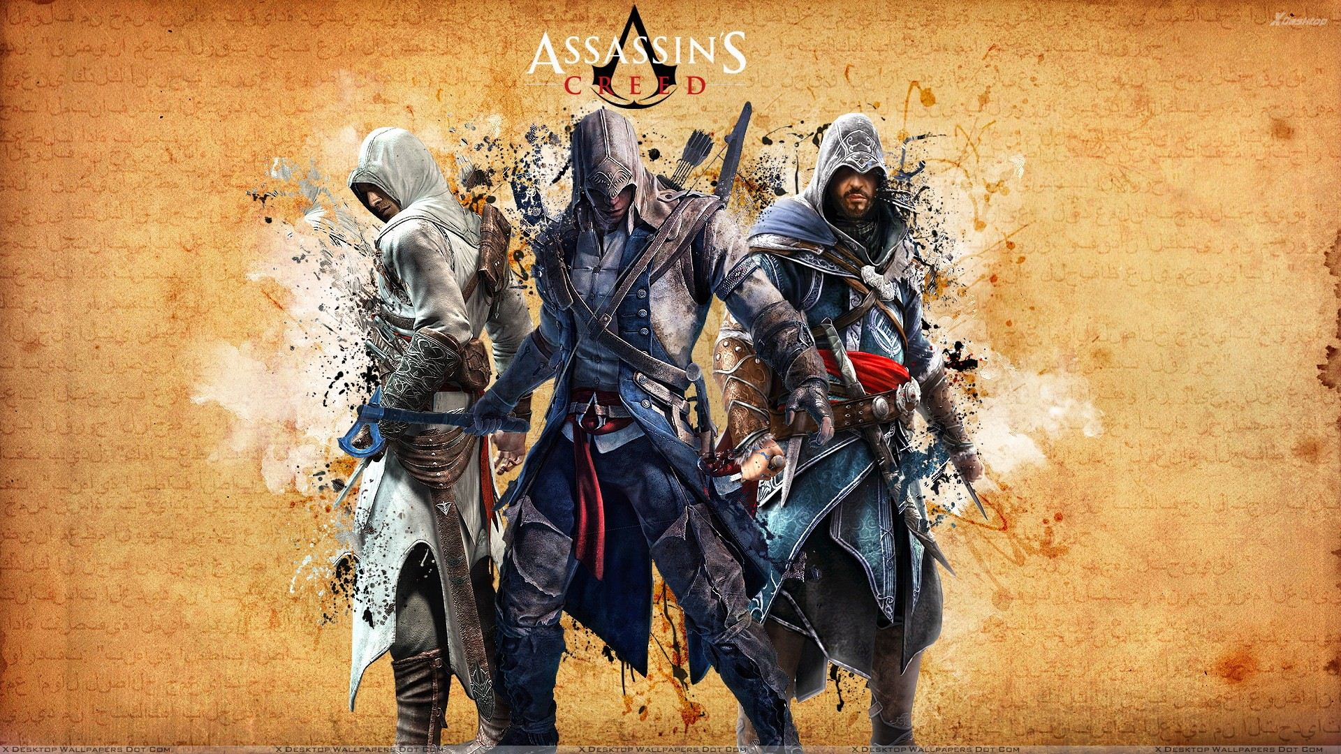 Free Download Assassins Creed All Characters Wallpaper 1920x1080