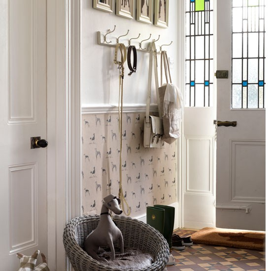 Quirky hallway Hallways Country Country Homes Interiors 550x550