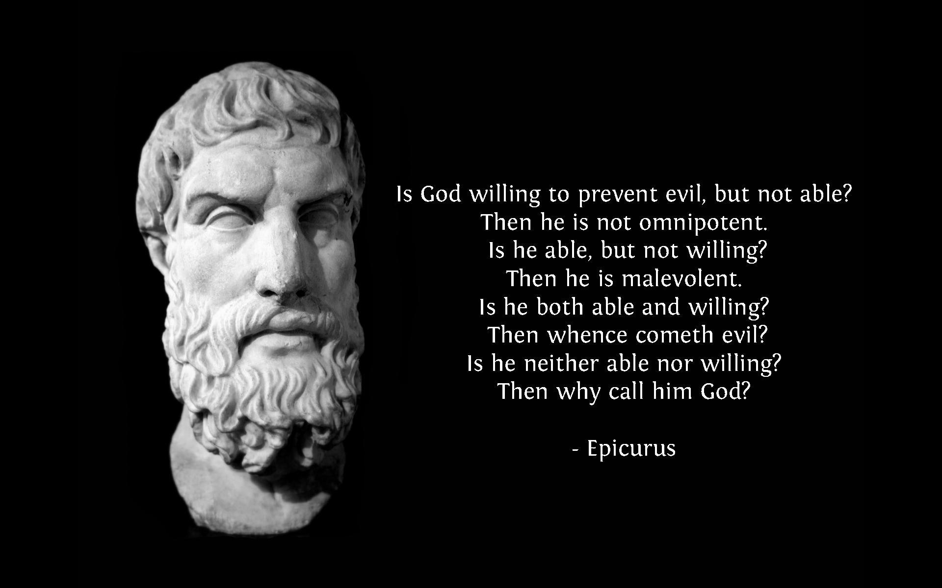 Quotes Evil Wallpaper 1920x1200 Quotes Evil Epicurus Men God 1920x1200