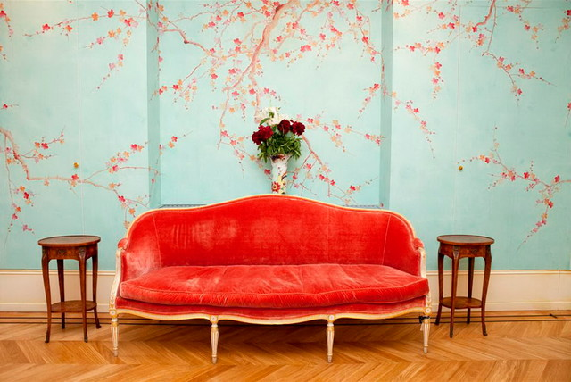 JapaneseKorean Style Hand Painted Silk Wallpaper   asian 640x428