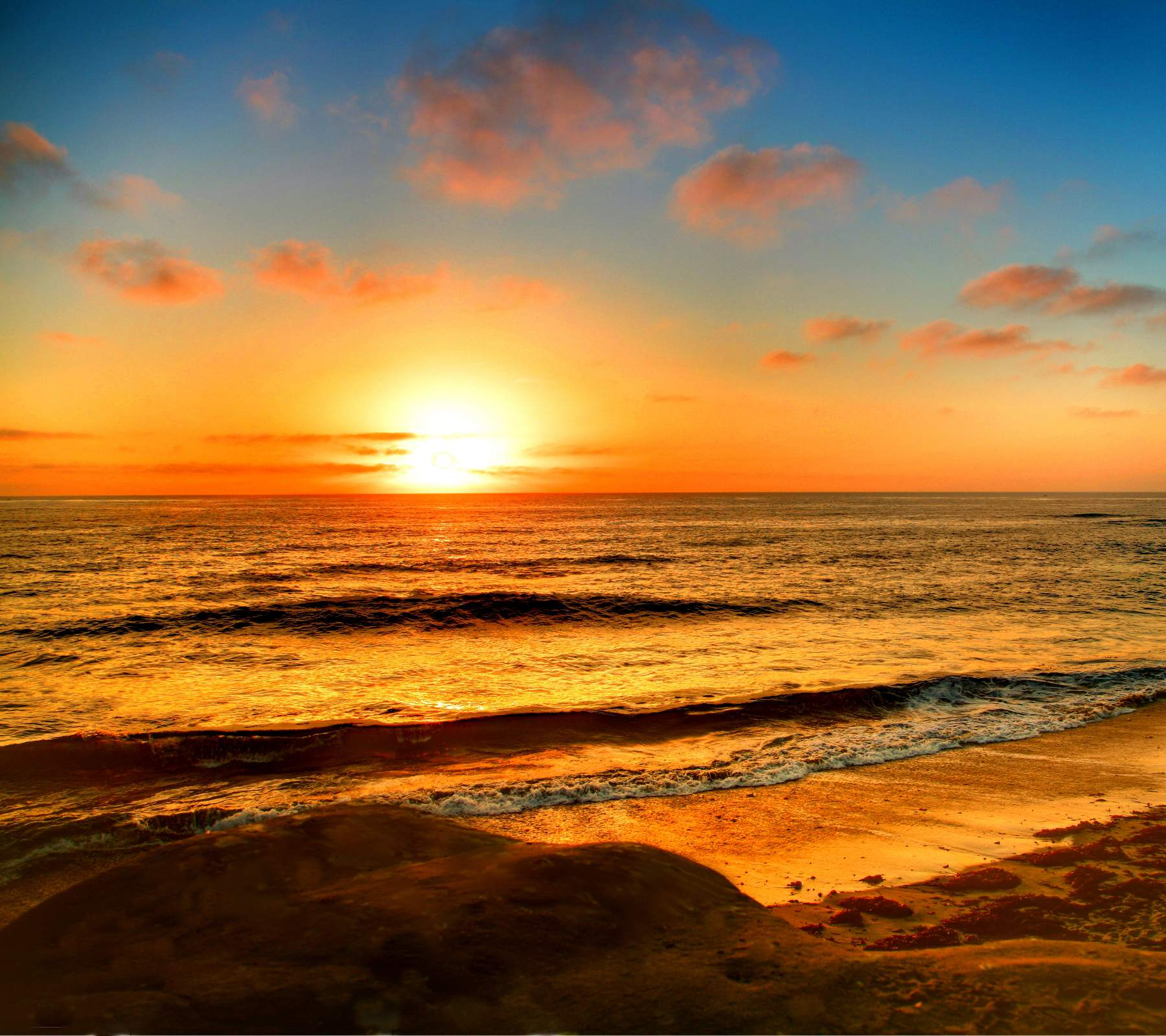 La Jolla Beach Sunset Background 1800x1600 Background Image Wallpaper 1800x1600