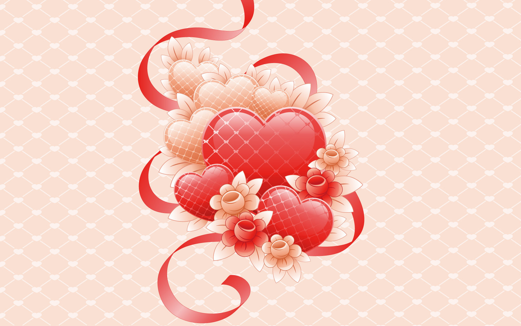 Cute 3D Valentines Day Heart Picture wallpaper Wallpapers   HD 1800x1125
