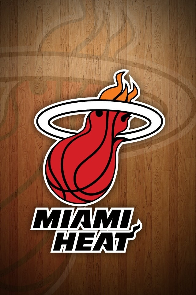 Miami Heat Logo iPhone wallpapers Background and Themes 640x960