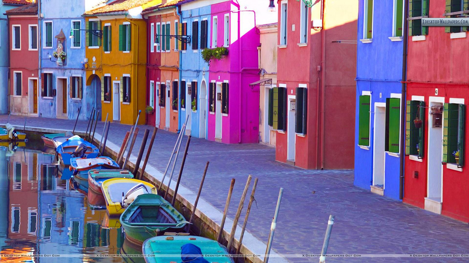 Burano Venice Italy Wallpaper 1920x1080