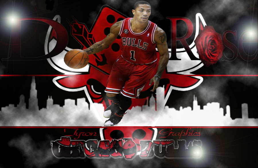 derrick rose of the chicago bulls by mademyown customization wallpaper 900x587