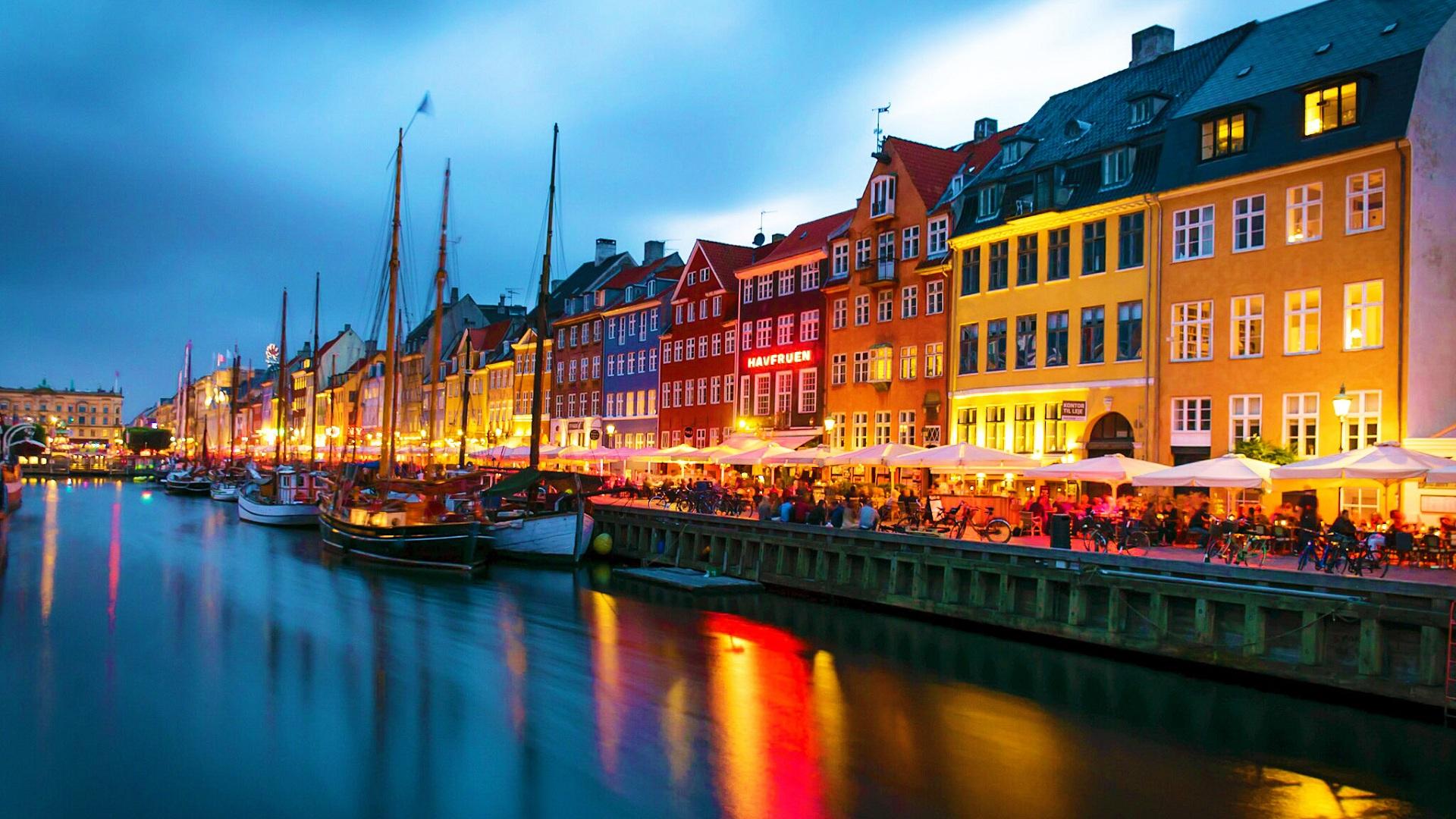 Most Beautiful Night shot of NyhavnCopenhagenDenmark [1920x1080 1920x1080