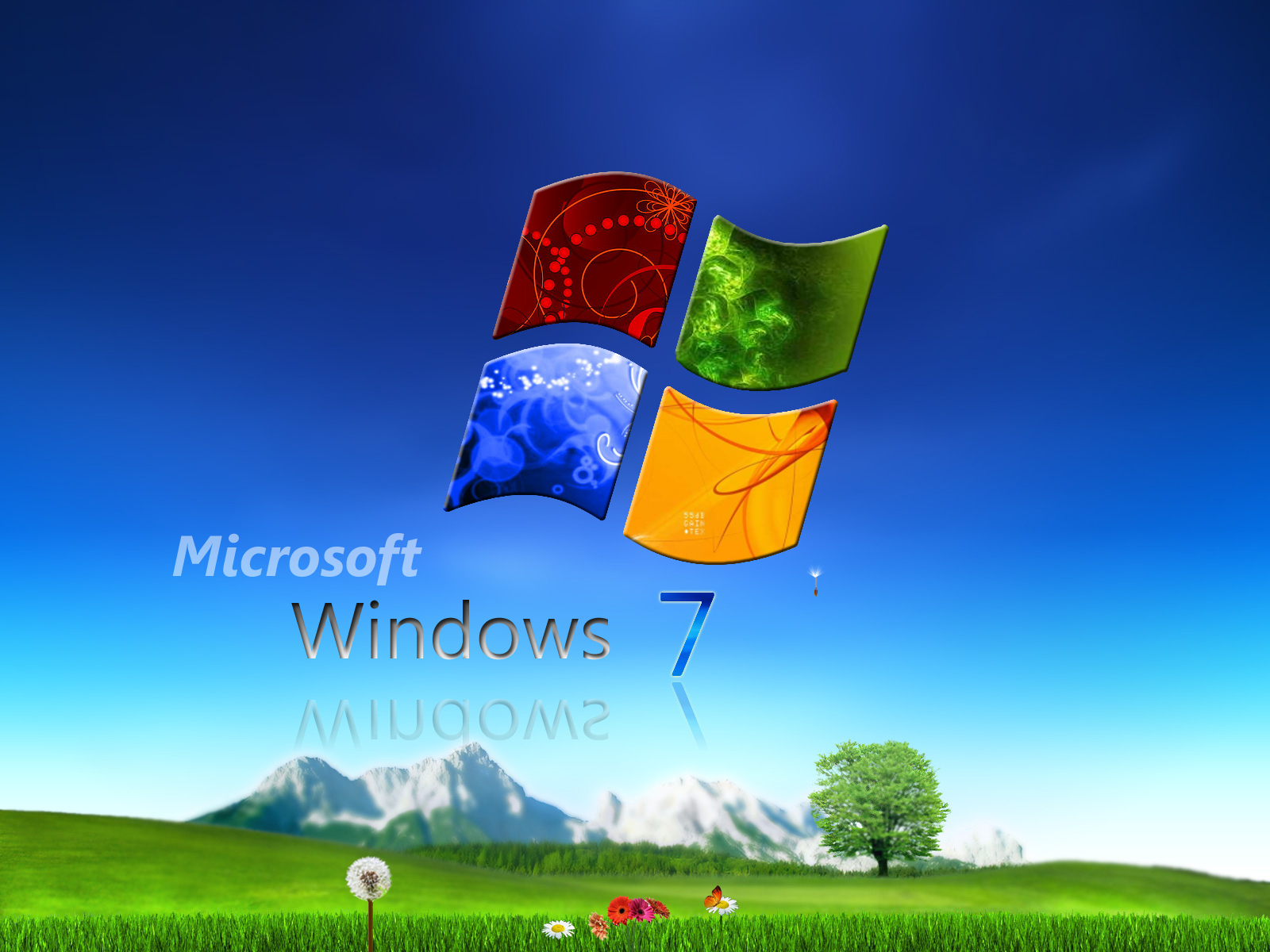 Microsoft windows 3d wallpaper 1600x1200