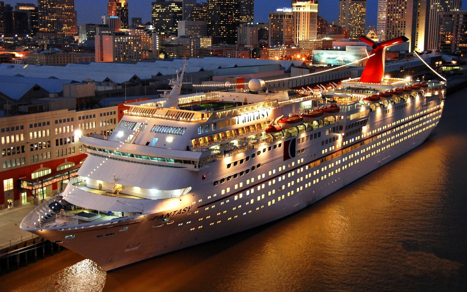 Wallpaper carnival cruise fantasy night lights desktop wallpaper 1920x1200