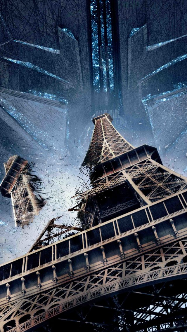 Wallpaper Independence Day Resurgence tour Eiffel paris best 640x1138