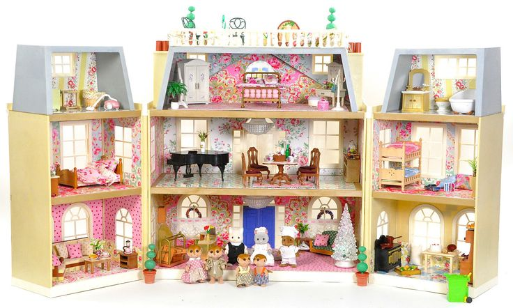 Critters Google, Calico Critters House, Dolls House, Dollhouse Tiny ...