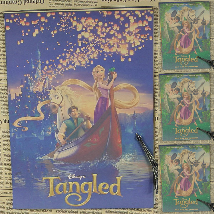 Movie Poster Tangled home Decorative painting core Wallpaper Mural 750x750