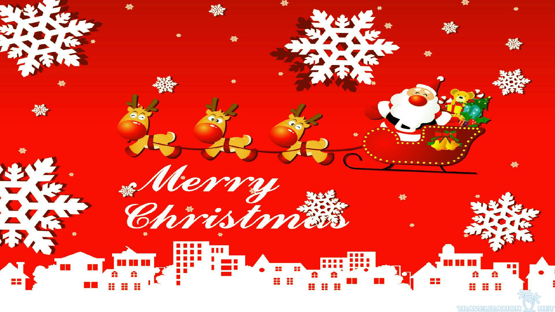 Free Download Cute Merry Christmas Image Wallpaper 7460