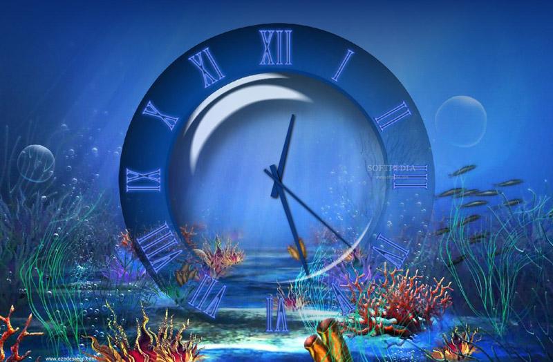 Aquatic Clock Screensaver 30 for Windows 81 800x524