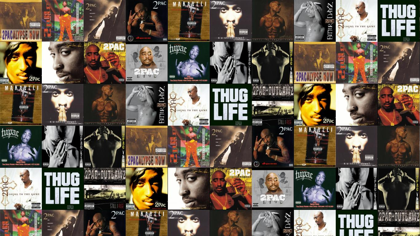 2pac Wallpapers Thug Life 1366x768