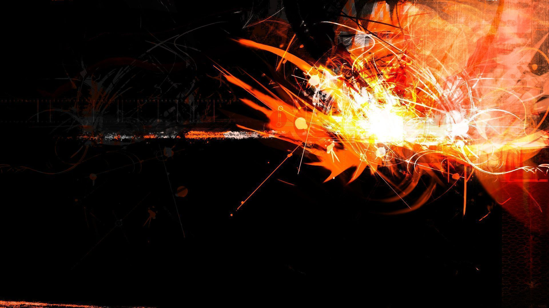 Black and Orange Desktop Wallpaper 1920x1080