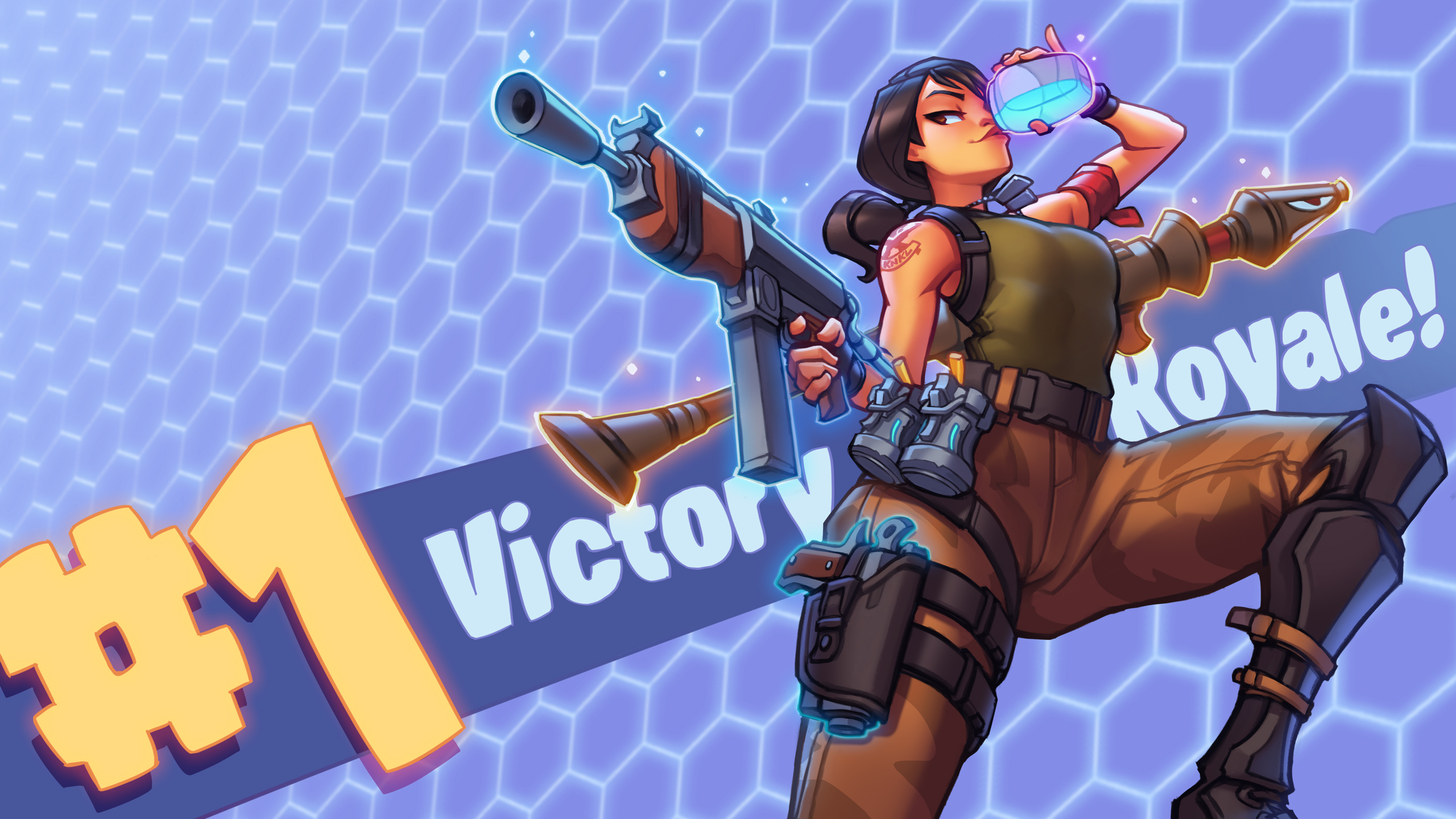 Fortnite   2018 VICTORY ROYALE  Youtube by KNKL on 2560x1440