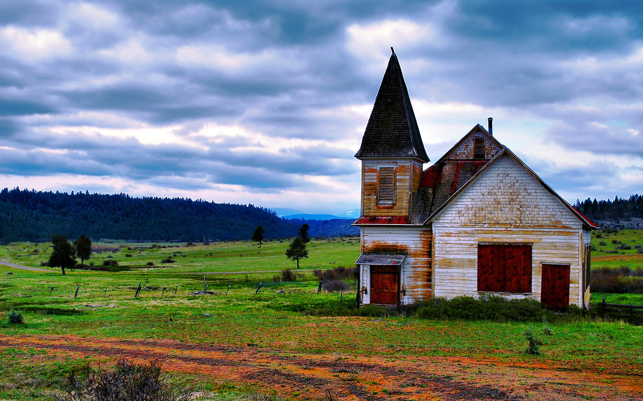 country church hdr wallpaper warm country serenity 1280x800