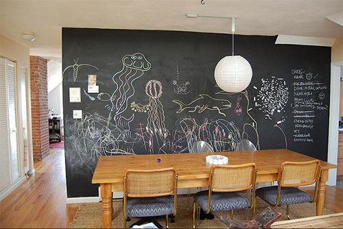 This aquarium chalkboard wall was created by flickr user bernielopes 500x334