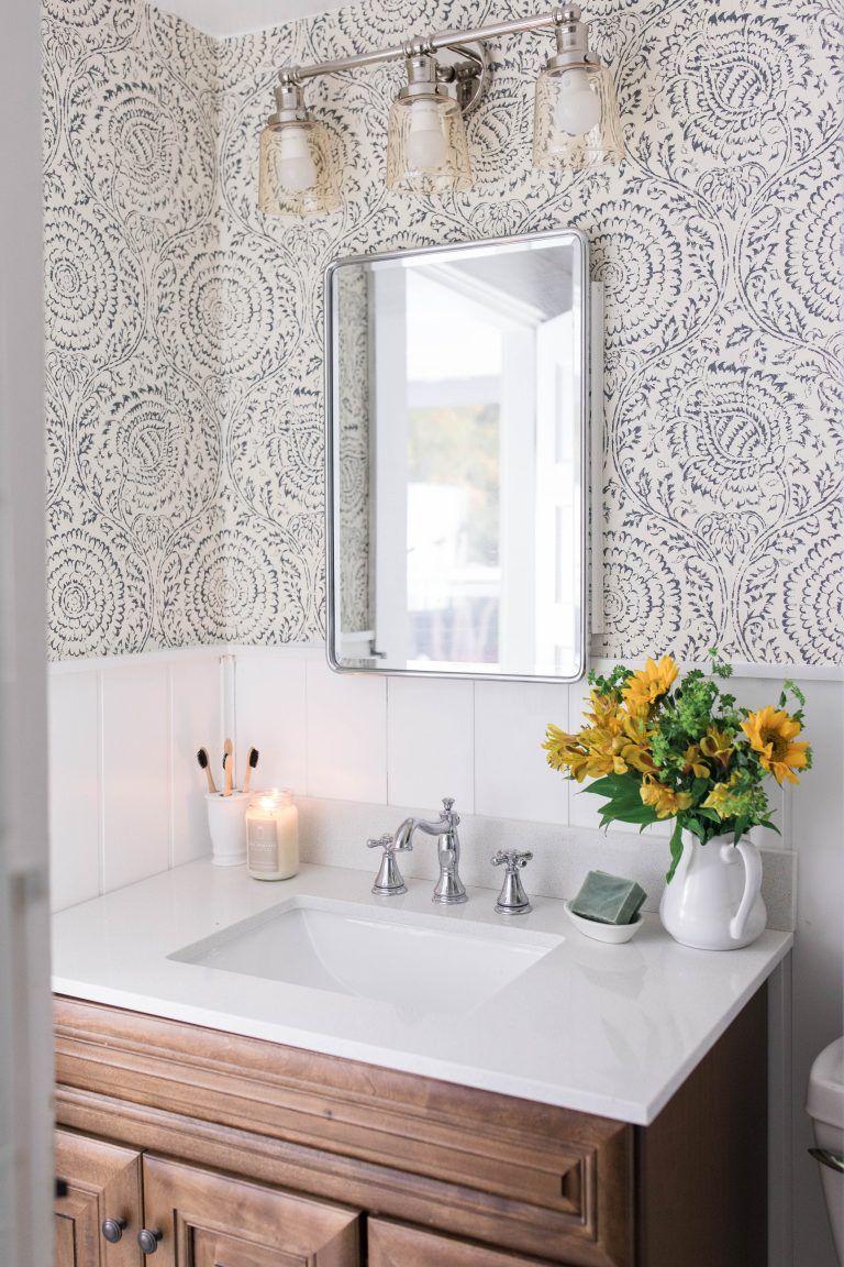 48 Farmhouse Bathroom Wallpaper On Wallpapersafari