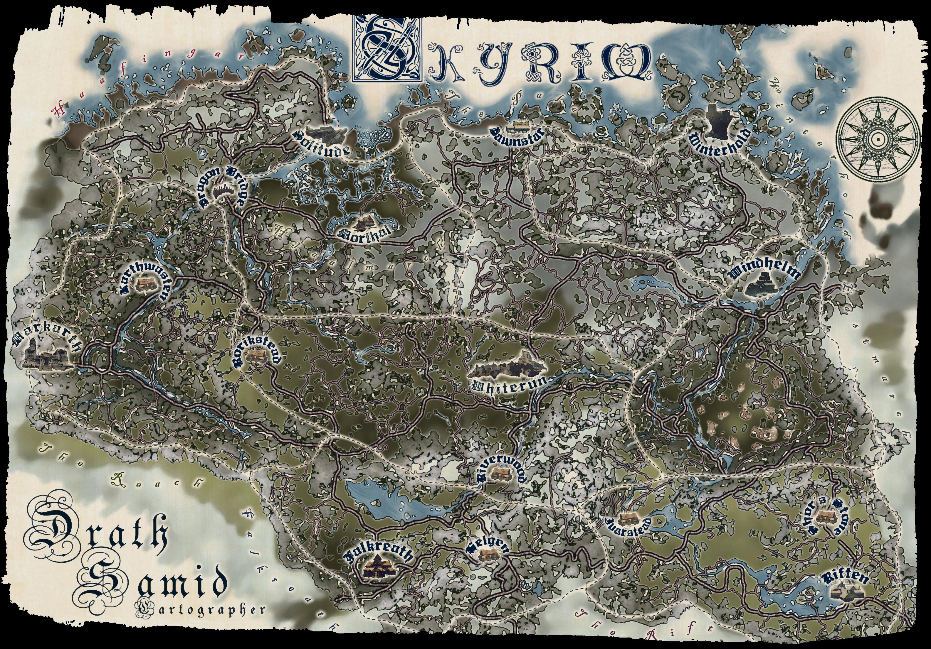 Karte Skyrim