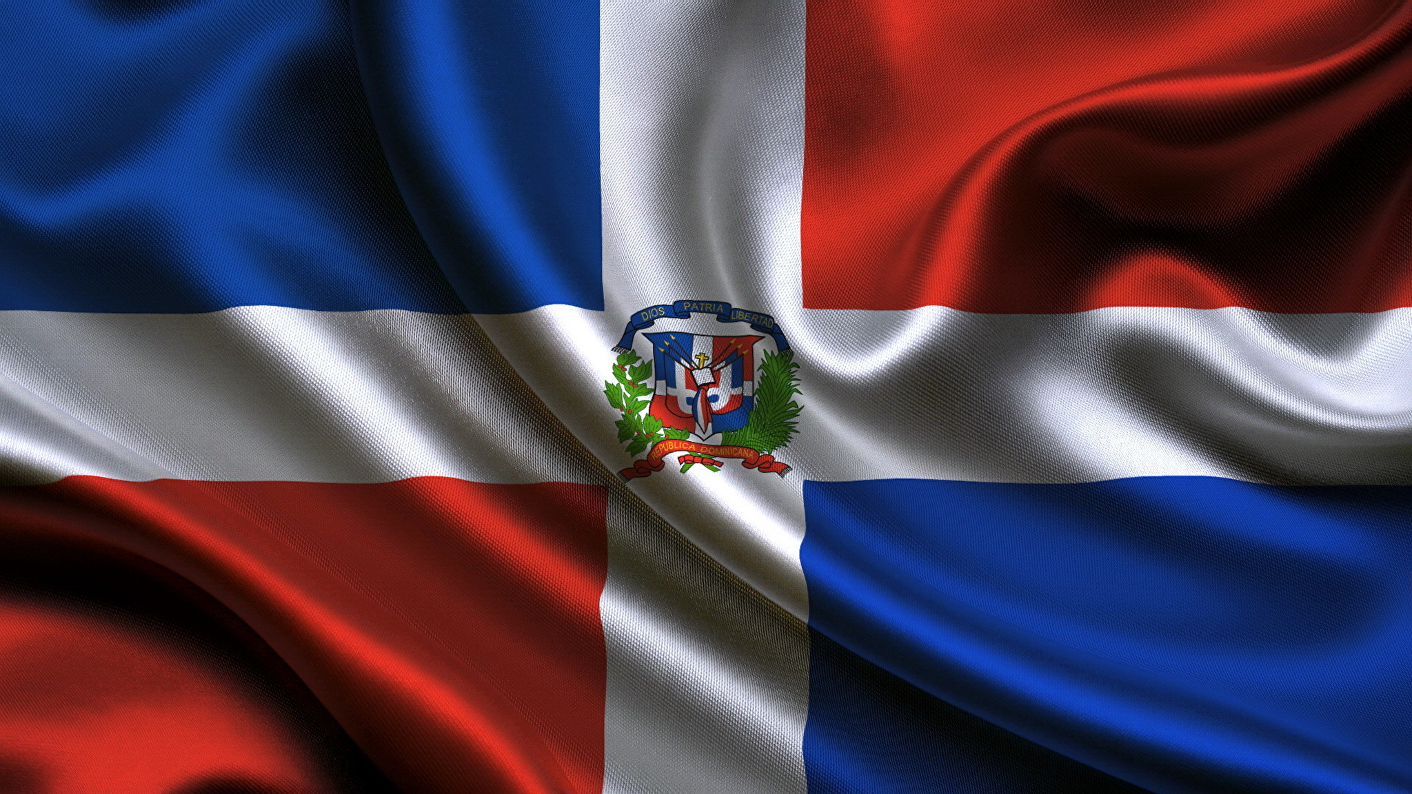 Images Dominican republic Flag 2048x1152 2048x1152