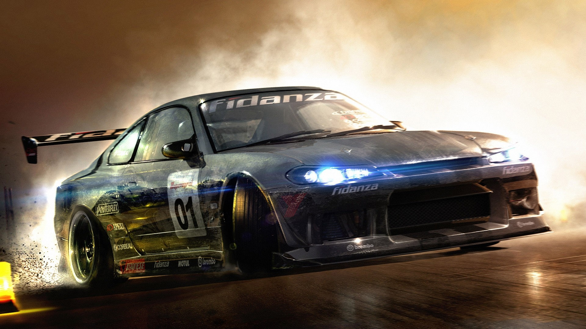 Download Drift Racing Car Wallpaper Wallpapers 1920x1080