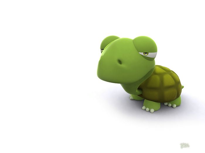 3D Turtle   Cute 3D cartoon Turtle Wallpaper 3D characters 3D 700x525