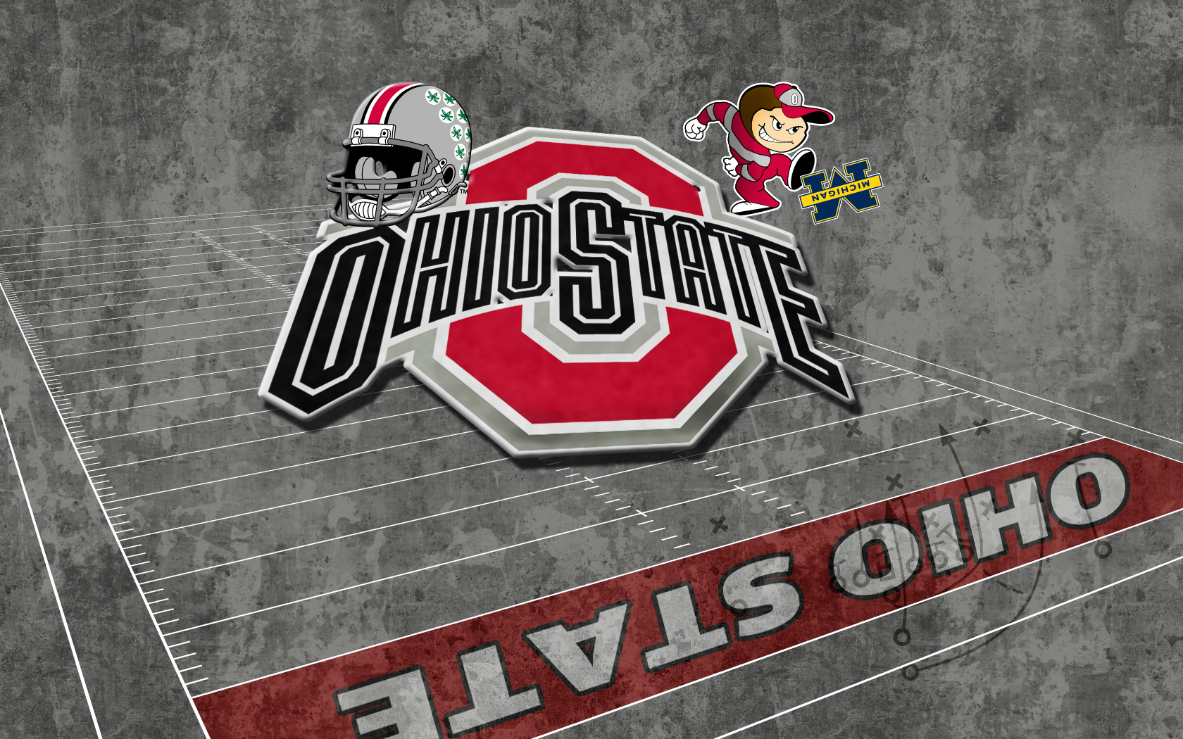 Celebrate The Game With Ohio State amp Michigan Wallpapers 1680x1050