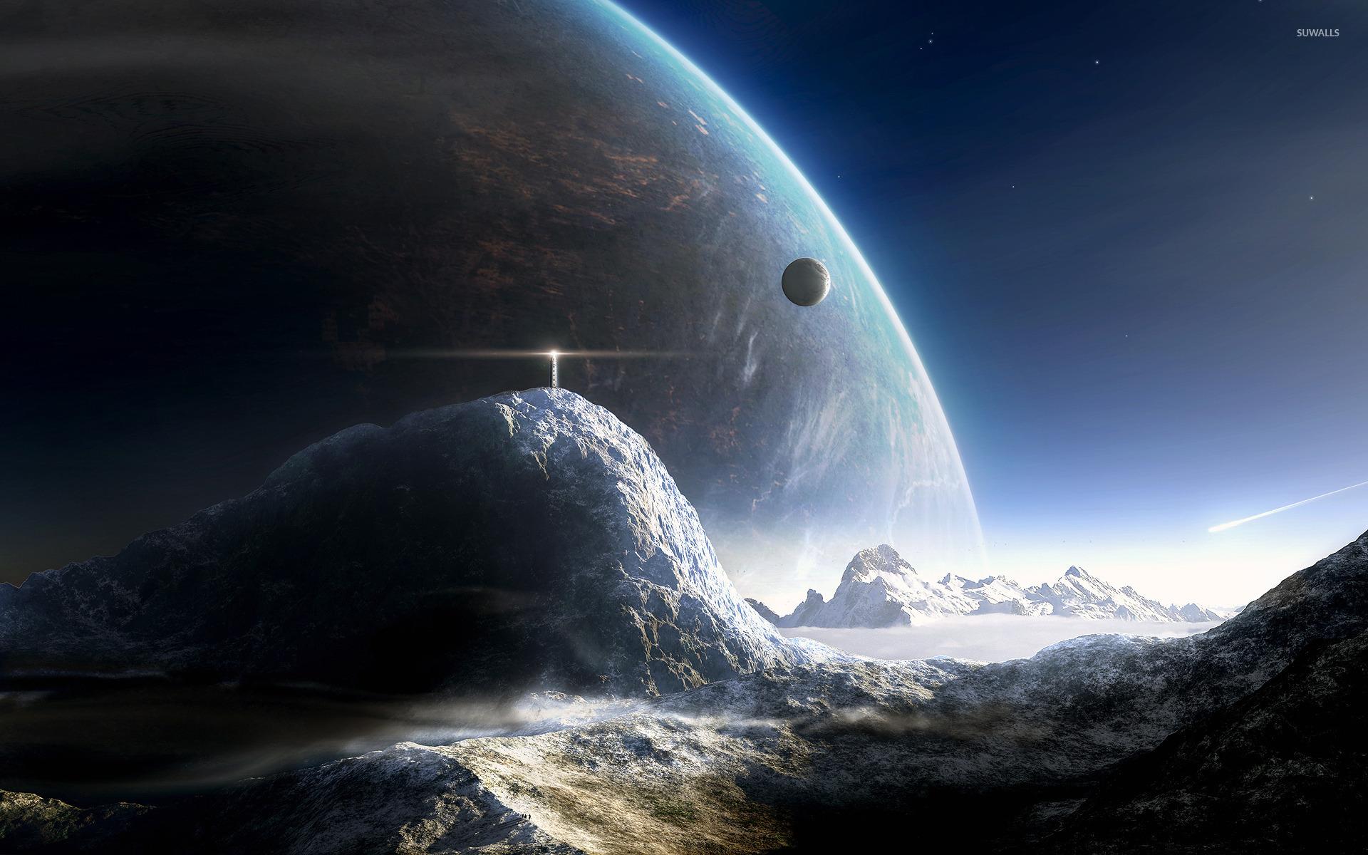 Lifgthouse on a distant planet wallpaper   Fantasy 1920x1200