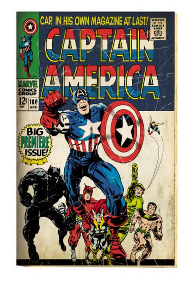 Comic book cover wallpaper wallpapersafari - Marvel retro wallpaper ...