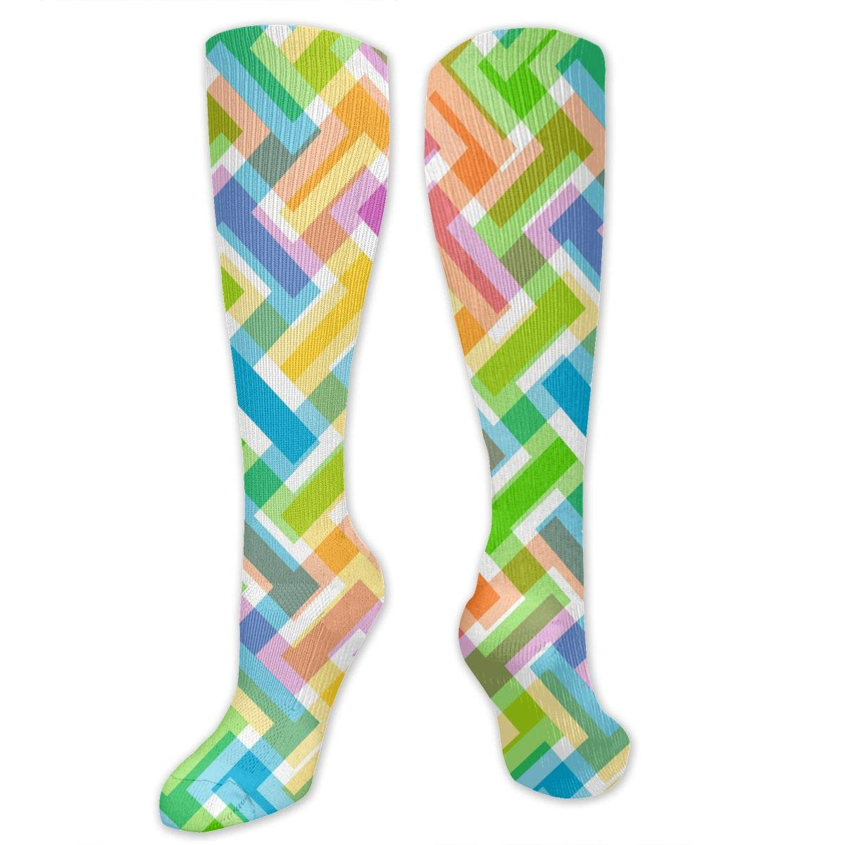 Abstract Pattern Colorful Wallpaper Compression Socks For Men 1200x1200