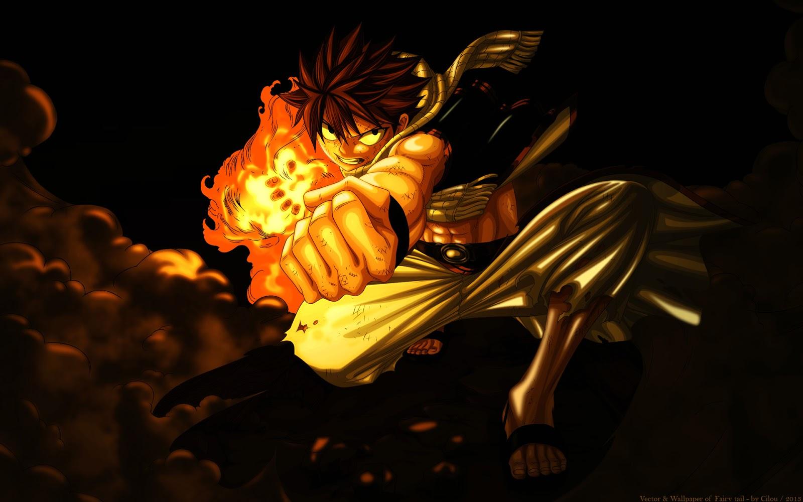 Fairy Tail Natsu Dragneel Anime HD Wallpaper Desktop Background 1600x1000