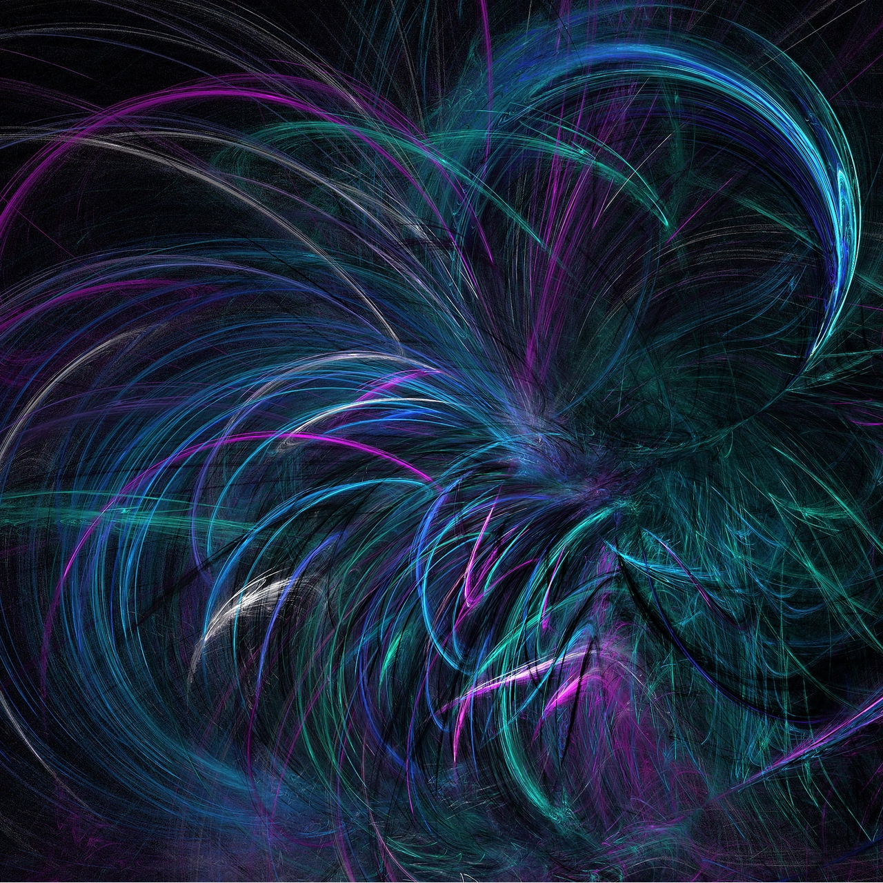 Download wallpaper 1280x1280 fractal lines dark violet twisted 1280x1280