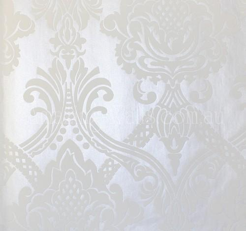 Baroque Velours white pearl shiny no2548   Amazing Walls Wallpaper 500x471