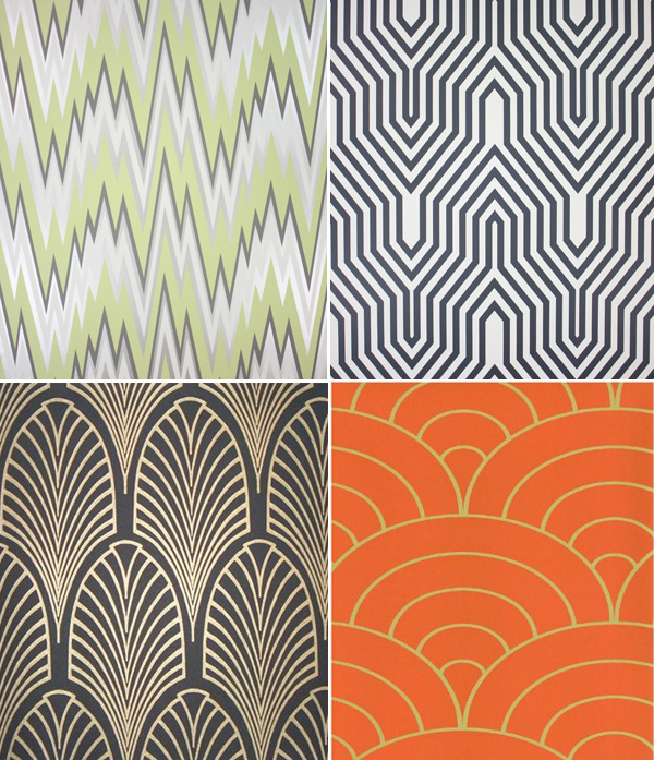 Art Deco Inspired Wallpapers via La Dolce Vita 600x697