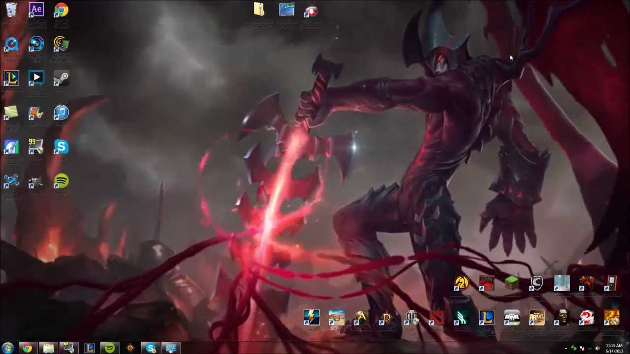 How to make the League of Legends Login Video Your Wallpaper on 1280x720