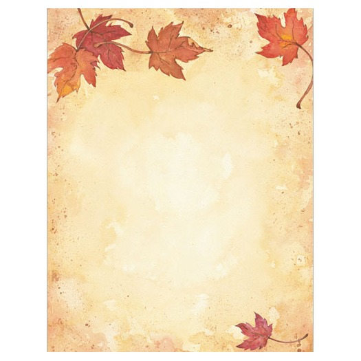 Fall Leaves Border Thanksgiving Fall Amp Autumn Stationery Computer 525x525