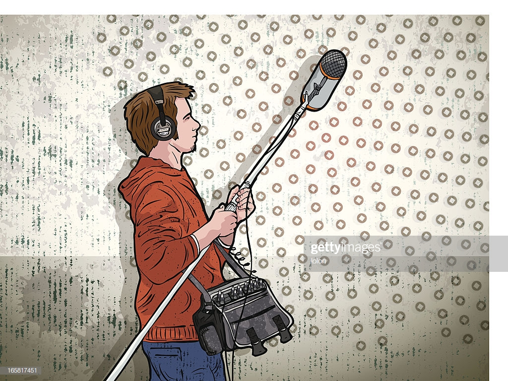 Boom Operator And Grunge Background stock illustration   Getty Images 1024x768