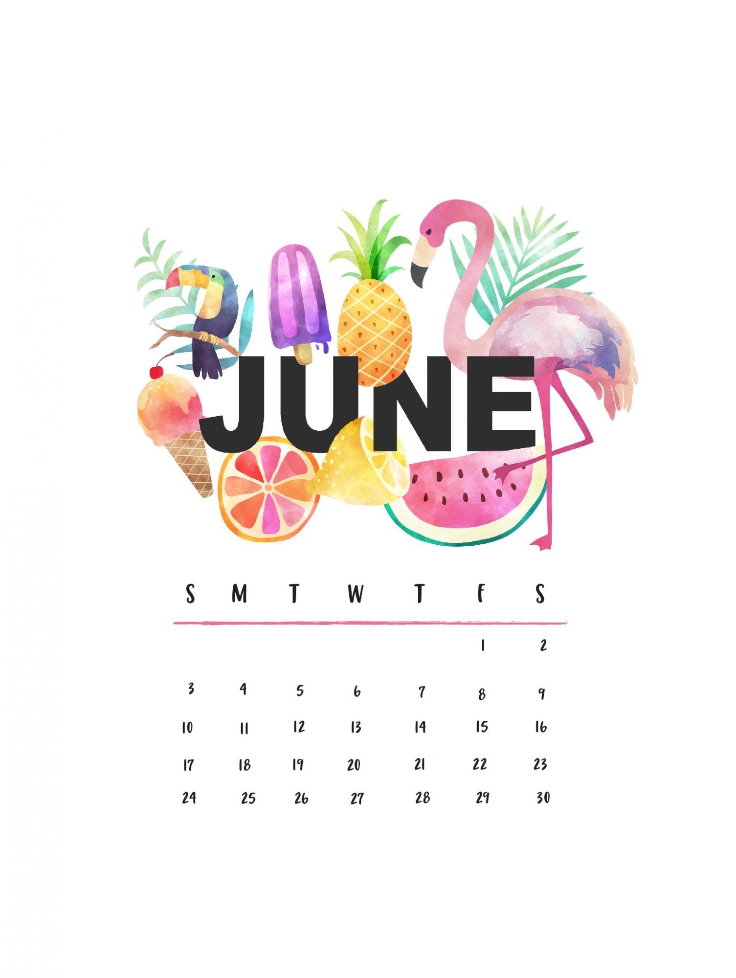 Beautiful June 2018 iPhone Calendar Wallpapers Calendar 2018 1505x2000