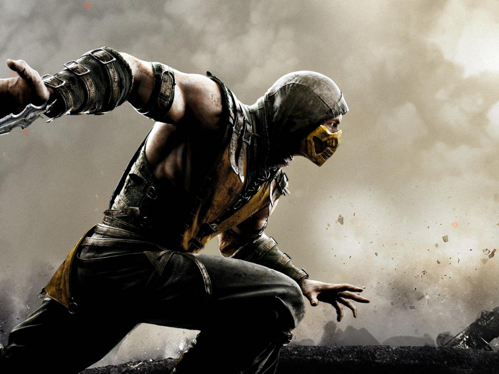 HD Background Mortal Kombat X Scorpion Wallpaper 1600x1200