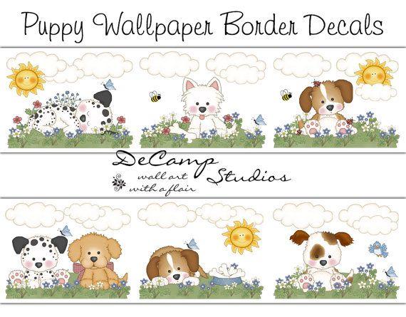 Dog Wallpaper Border for baby boy or girl nursery and children's room ...