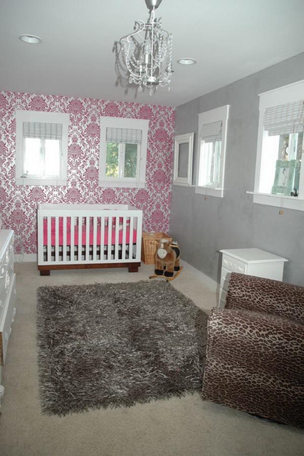 Girls Baby Room Ideas With Wallpaper Decor Home Interior Design