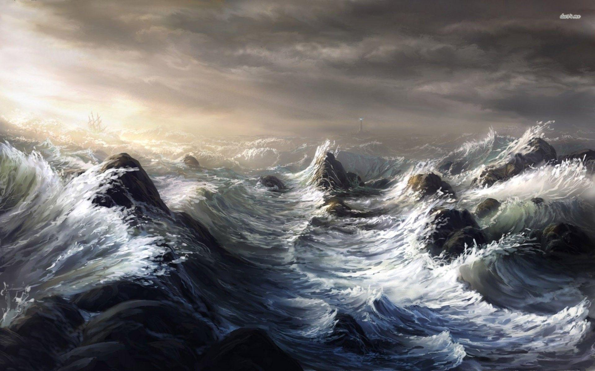 Stormy Ocean Wallpapers - Wallpaper Cave