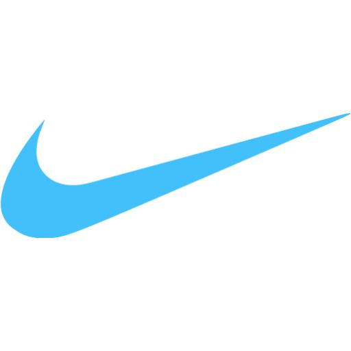 White Nike Logo Caribbean blue nike icon 512x512