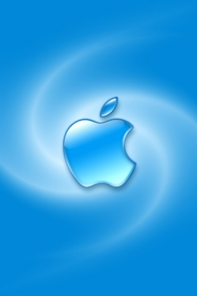 Cute Blue Apple Iphone 4 Wallpapers 640x960 Best Hd Iphone Themes 640x960