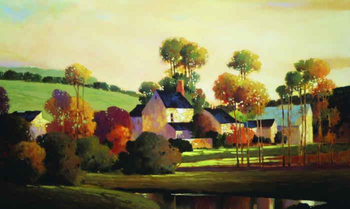 Painterly Landscape Mural   Wallpaper Border Wallpaper inccom 700x419