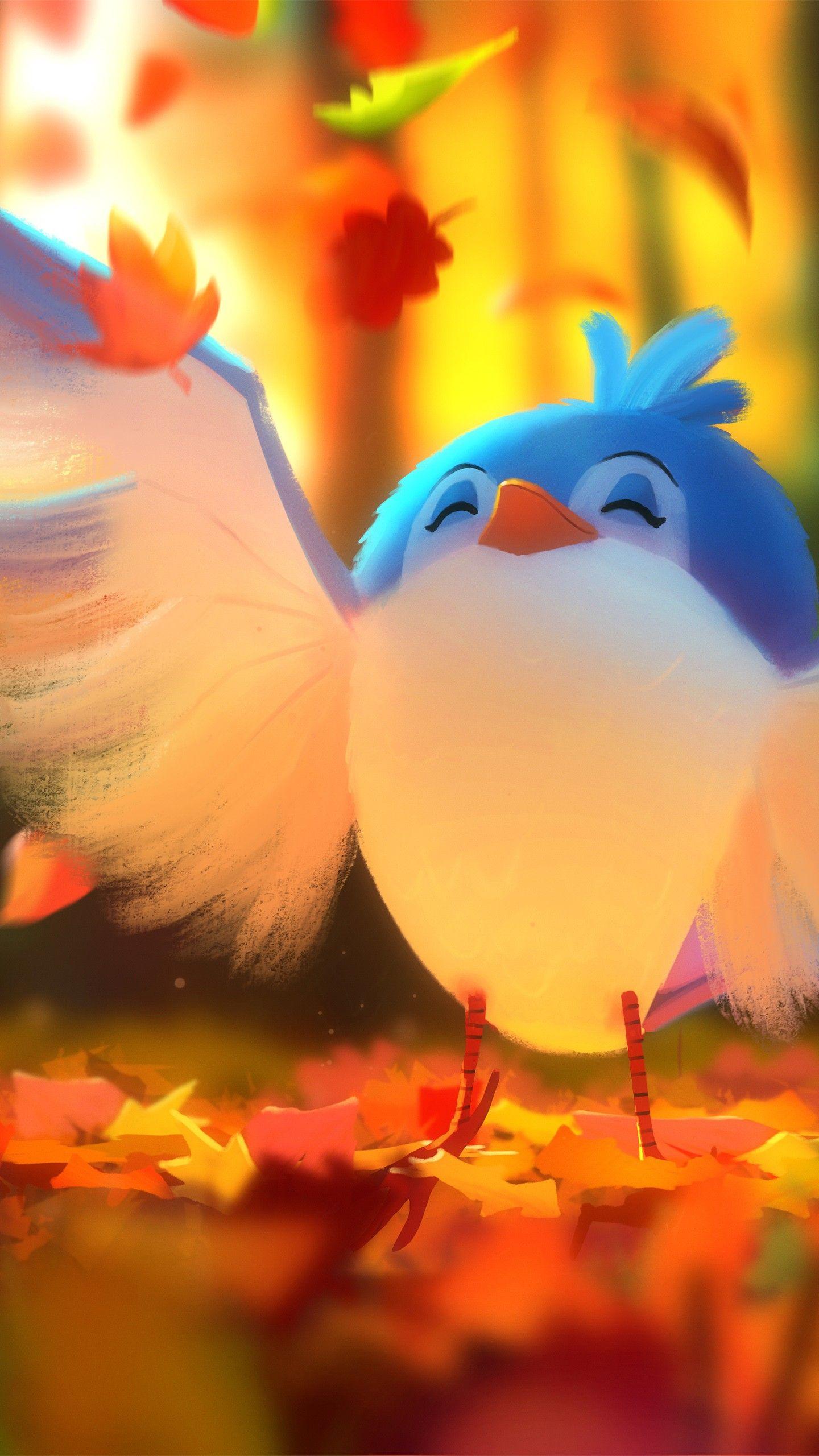 Misc Cute bird Digital art 4K wallpapers hd 4k background for 1440x2560