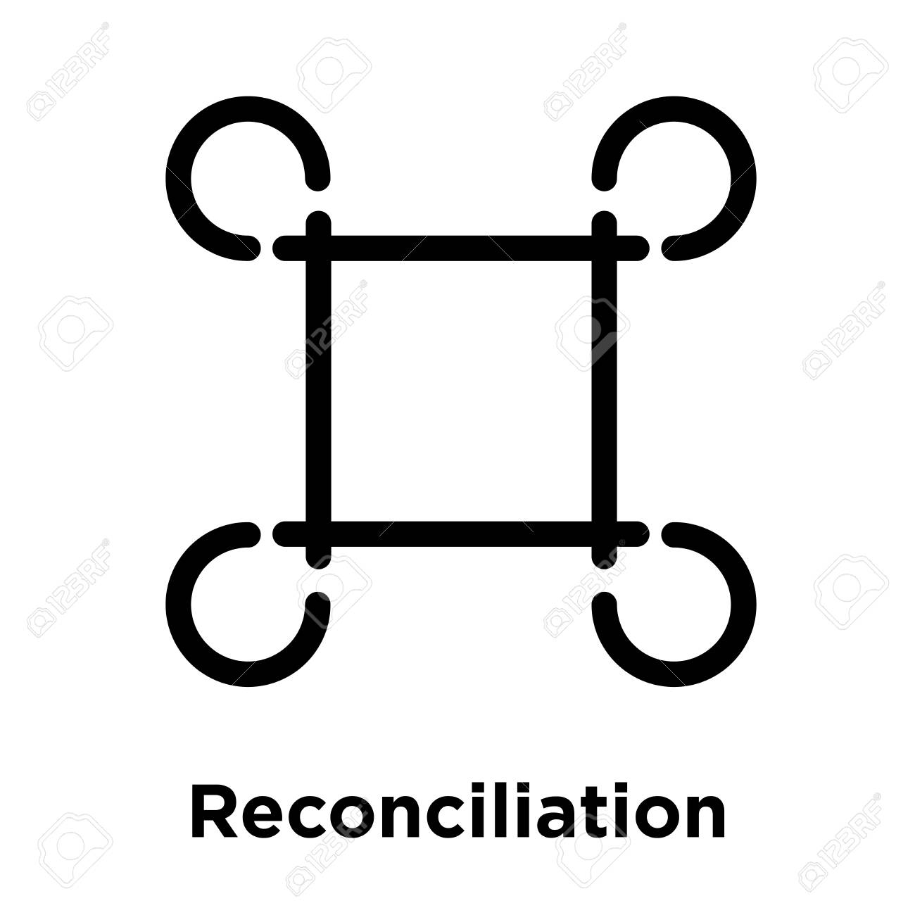 Reconciliation Icon Isolated On White Background Vector 1300x1300