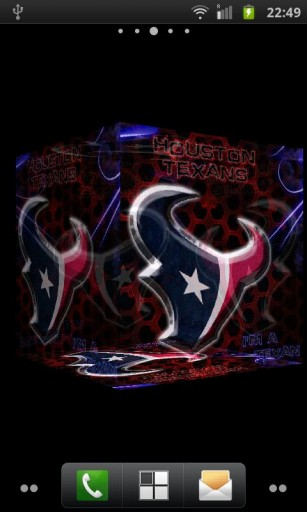 live wallpaper which bring 3D Texans Logo into your home screen 307x512
